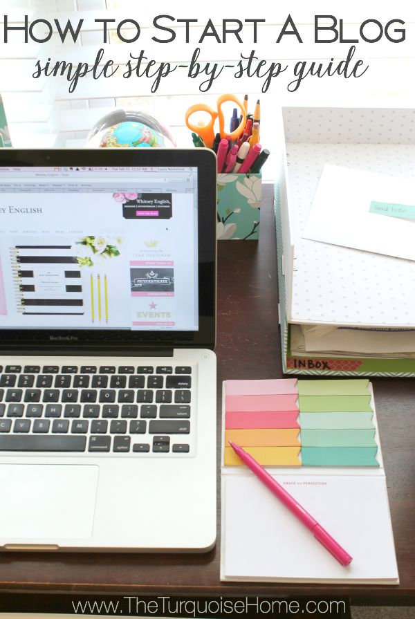 Starting a blog can be completely overwhelming. But it doesn't have to be! I've spelled out all of the steps and resources I wish I had when I started blogging! | All of the details at TheTurquoiseHome.com