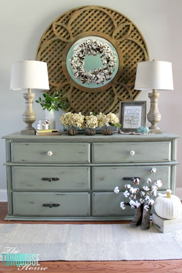 Neutral Fall Vignette | TheTurquoiseHome.com