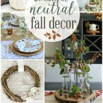 Beautiful Neutral Fall Decor