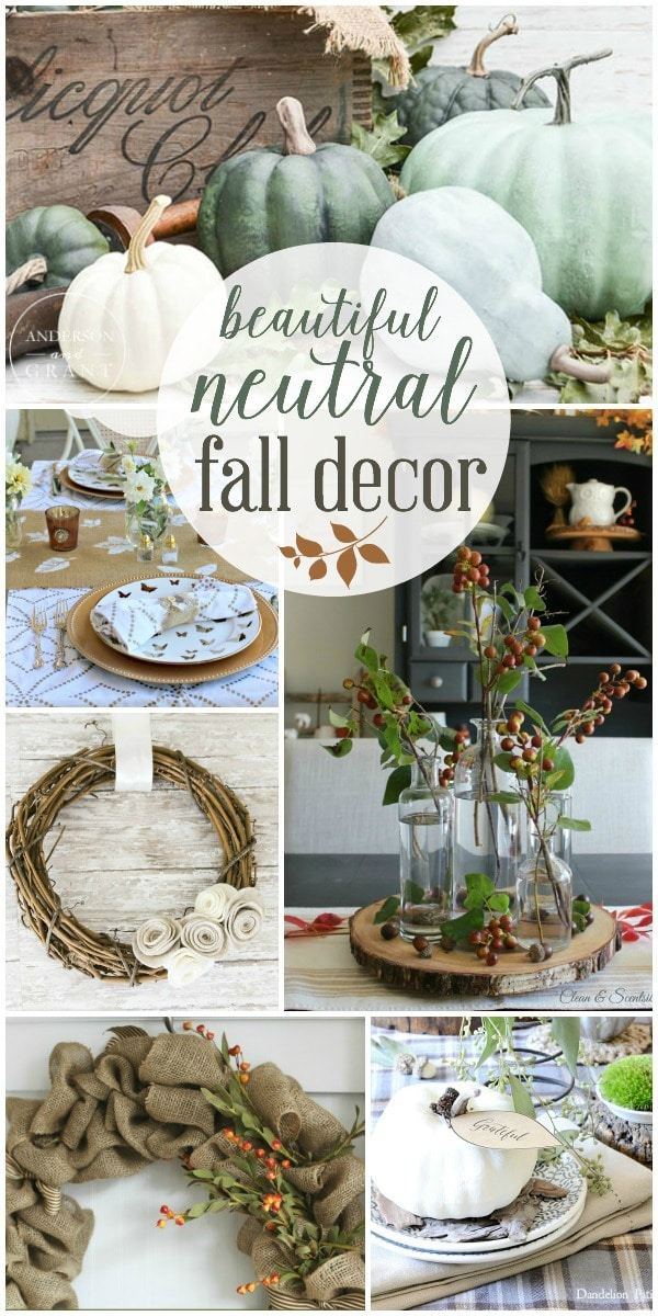 Beautiful neutral fall decor the turquoise home Pretty home decor pinterest
