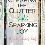 Clearing the Clutter & Sparking Joy: Initial Thoughts