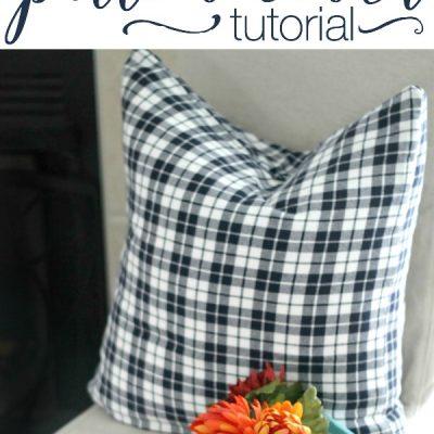Simple DIY Napkin Pillow Covers