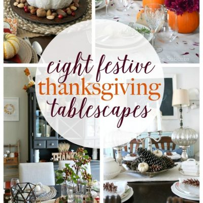 Treat your family to a gorgeous Thanksgiving table! Get some ideas with these 8 festive Thanksgiving tables capes.   Roundup via Work it Wednesday
