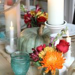 Turquoise Thanksgiving Tablescape