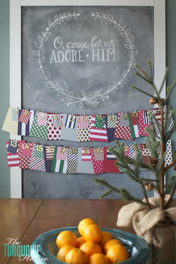 I love being intentional at Christmas with an advent calendar... | Christmas Chalkboard and December Daily | TheTurquoiseHome.com