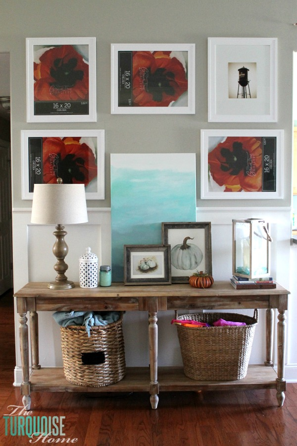 The Everett Console Table From World Market Anchors The Awkward Pass  Through Between The Dining Room