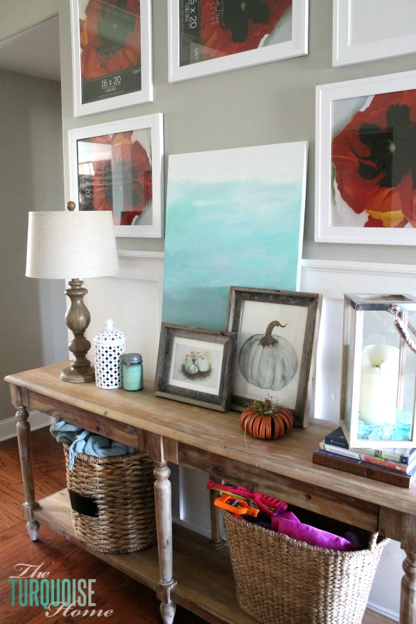 Beau The Everett Console Table From World Market Anchors The Awkward Pass  Through Between The Dining Room