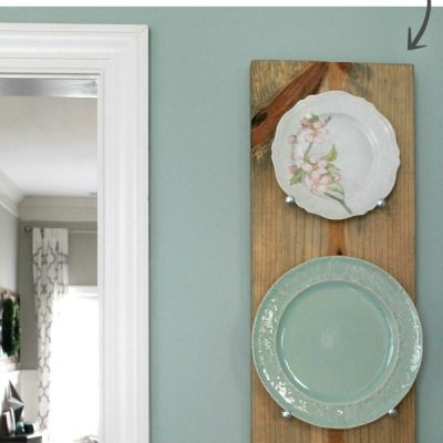 DIY Industrial Plate Rack