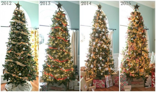 The Christmas Tree through the years at TheTurquoiseHome.com