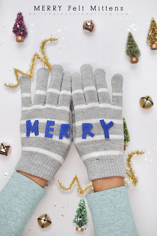 Merry Felt Mittens from Delineate Your Dwelling