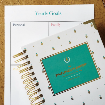Goal Setting Printable + Simplified Planner | TheTurquoiseHome.com
