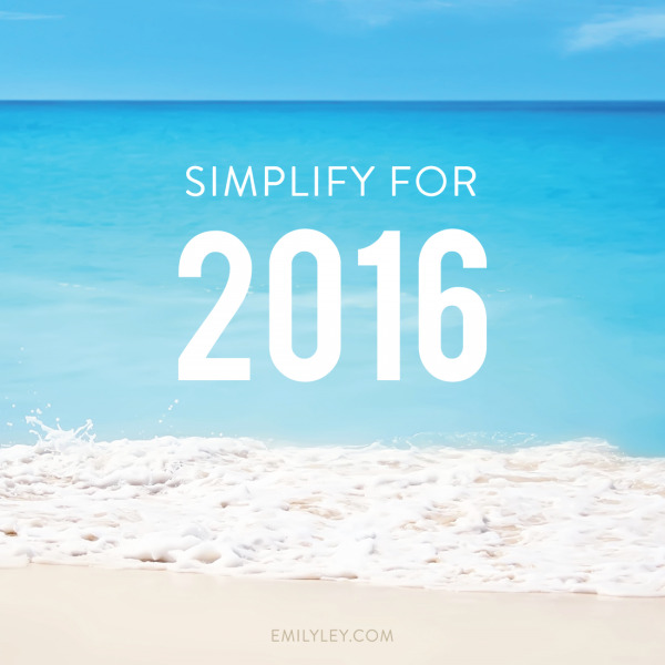 Simplify for 2016 + Goal Setting Printable