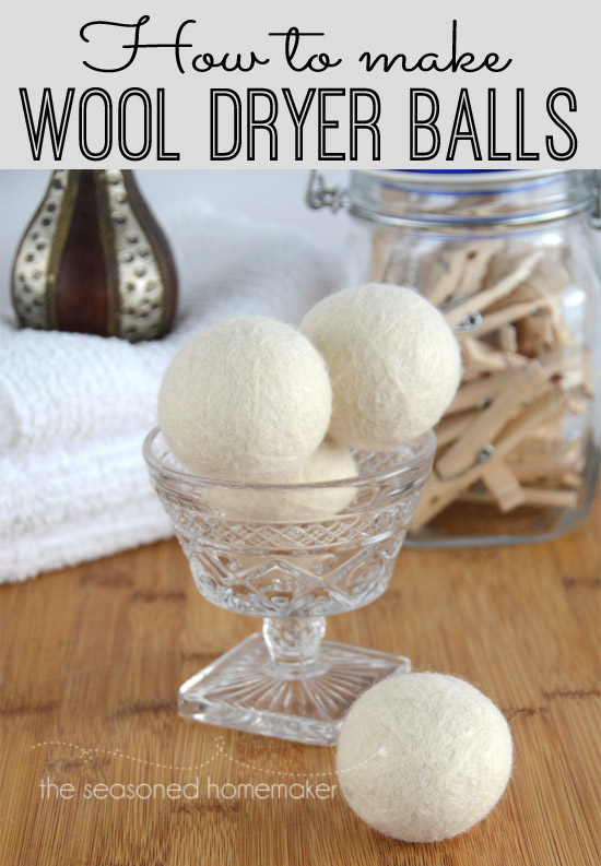 Wool Dryer Balls from The Seasoned Homemaker
