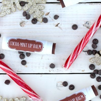 DIY Luxurious Cocoa-Mint Lip Balm + Free Printable Labels