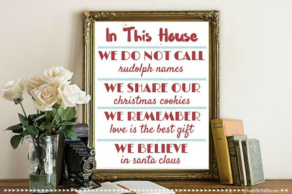 Holiday House Rules Free Printable from Inside the Fox Den