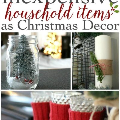 LOVE these simple ideas for using regular, everyday items as Christmas decor. More ideas at TheTurquoiseHome.com