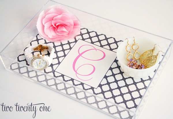 DIY Lucite Tray from Two Twenty One