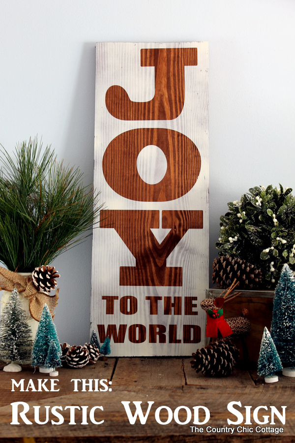 Rustic Joy to the World Sign from The Country Chic Cottage