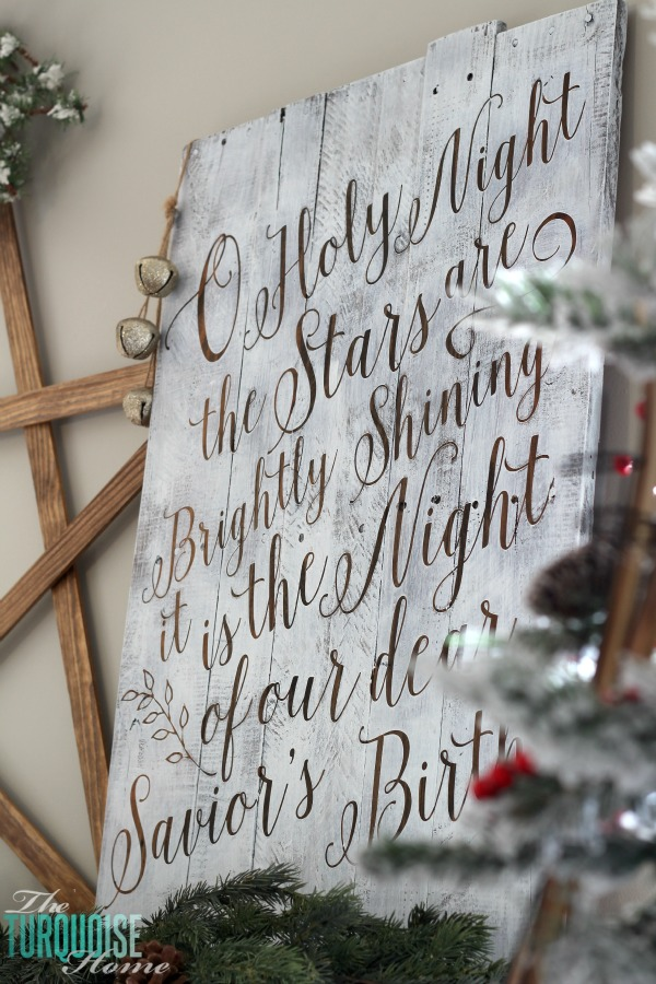 O Holy Night Stenciled Pallet Sign