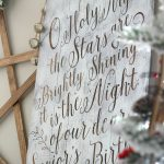 DIY Christmas Lettered Pallet Sign + O Holy Night Free Silhouette Cut File
