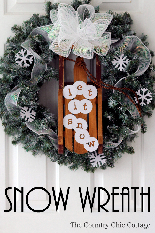Christmas Snow Wreath