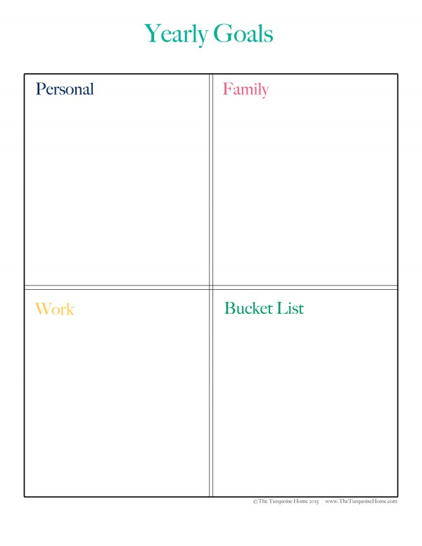 Get your Goal Setting Printable at TheTurquoiseHome.com