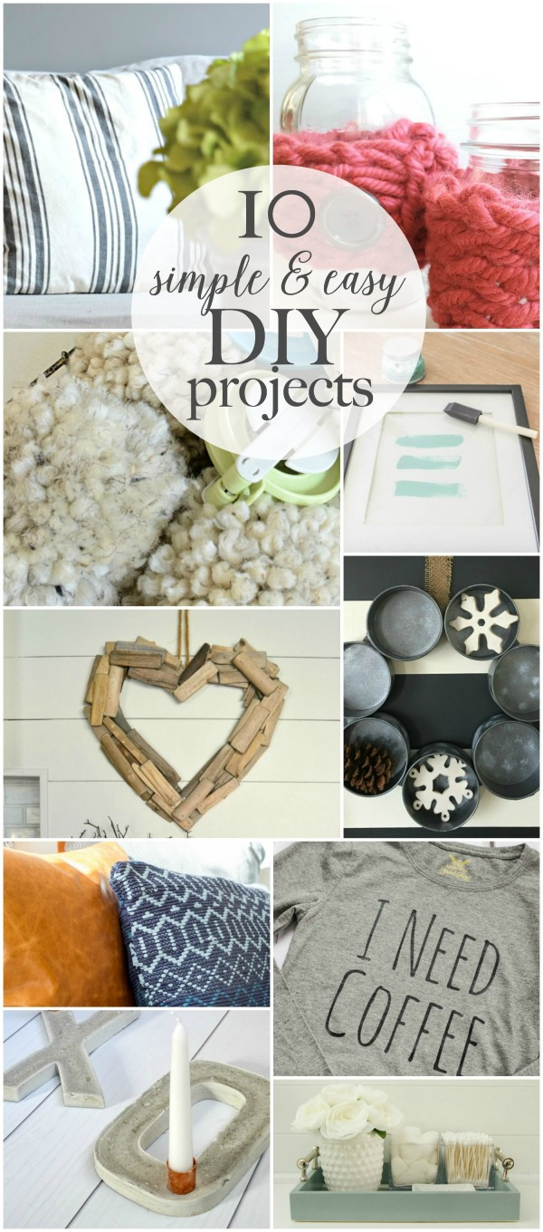 10 Simple and Easy DIY Projects | Featured at Work it Wednesday