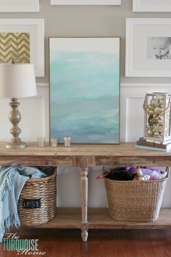 How to frame a canvas for cheap the turquoise home no way this is such an easy and cheap way frame a solutioingenieria Gallery