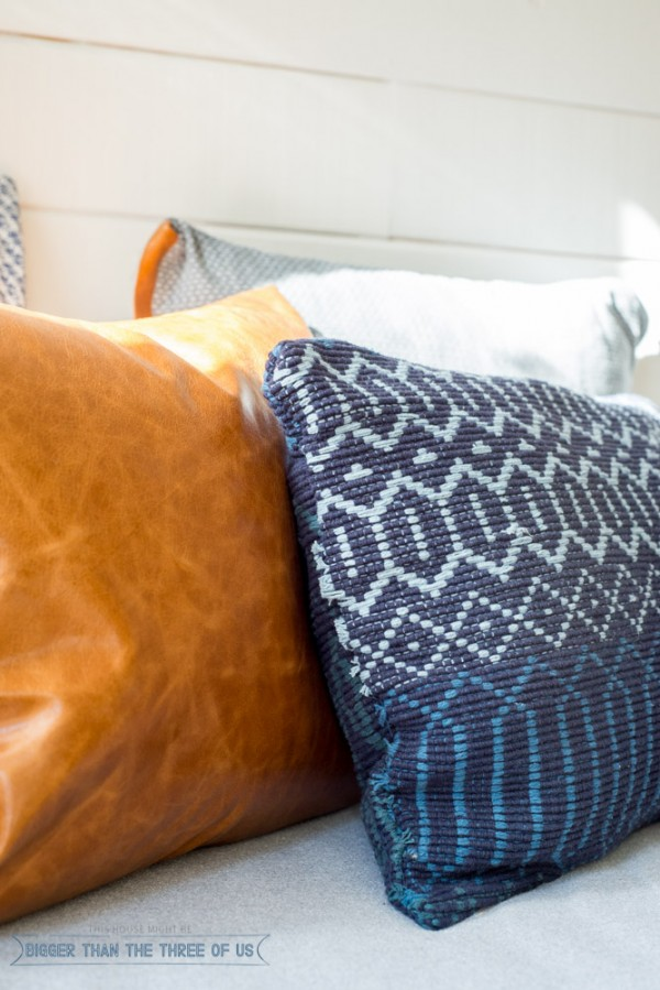Make a Textural Pillow out of an Accent Rug