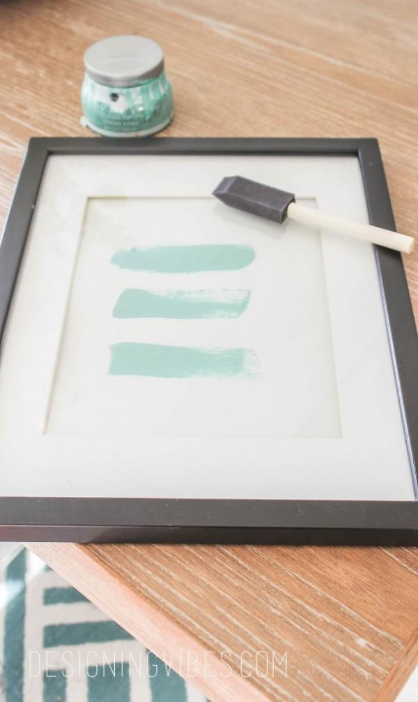 Easy Turquoise DIY Art