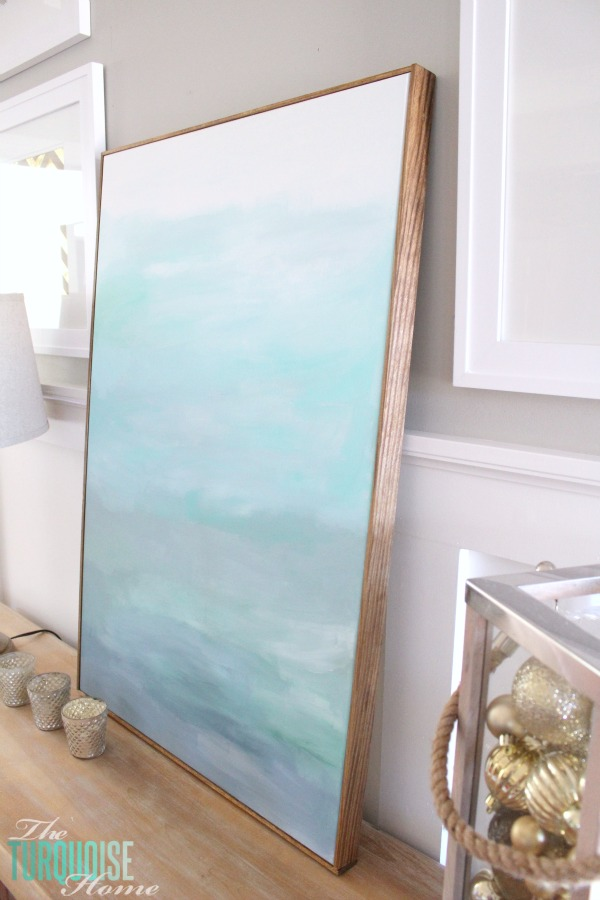 How To Frame A Canvas For Cheap The Turquoise Home