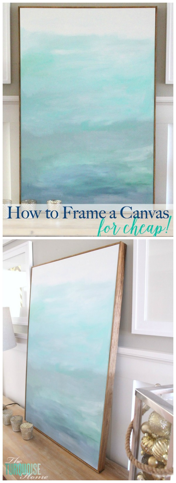 this is such an easy and cheap way frame a