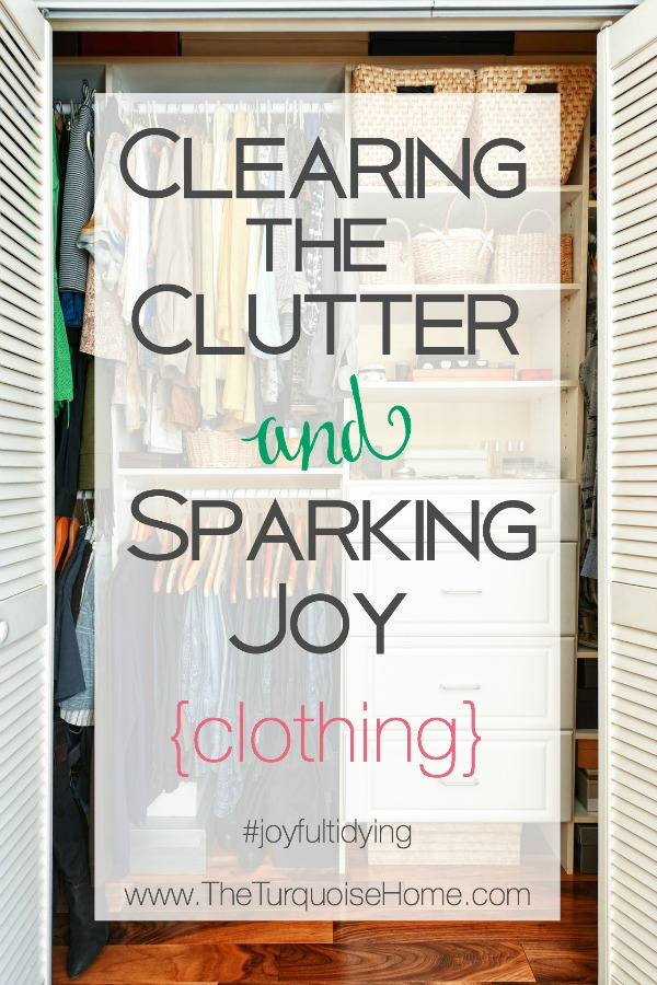 Decluttering the Master Closet using the KonMari method | Details at TheTurquoiseHome.com