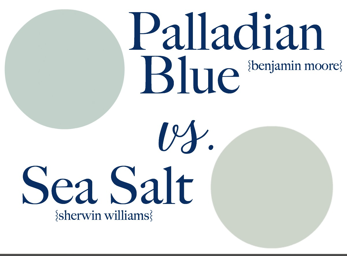 Benjamin moore palladian blue bathroom - Sea Salt Vs Palladian Blue Choose Paint Colors Without