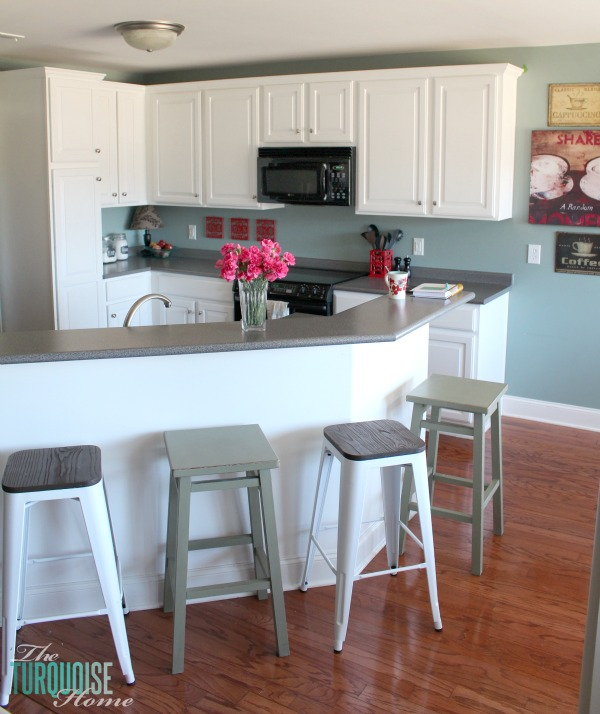 Diy Paint Kitchen Cabinets White: Painted Kitchen Cabinets With Benjamin Moore Simply White