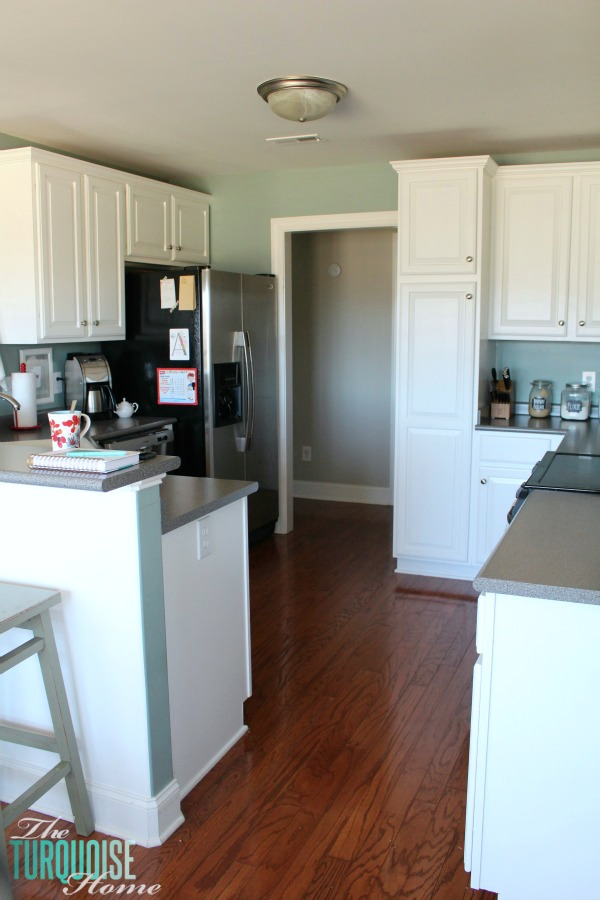 Refinishing Kitchen Cabinets Grey Blue Painted Kitchen Kitchen Blue