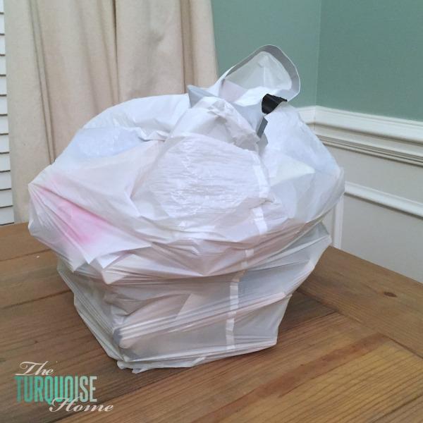 Books to throw away! KonMari Method Decluttering | TheTurquoiseHome.com
