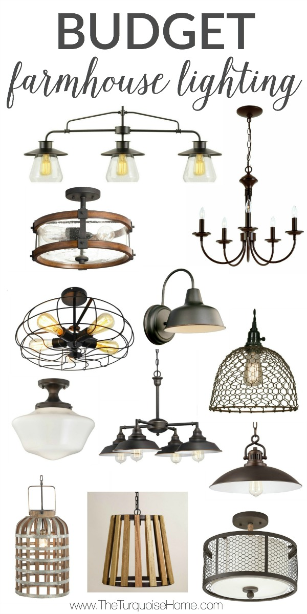 WOW!! These Budget Farmhouse Lighting finds are all under $150!!