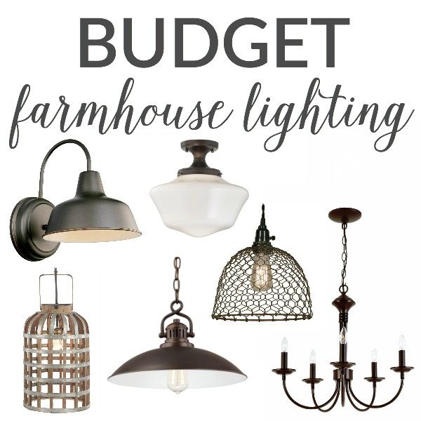 Budget Farmhouse Lighting