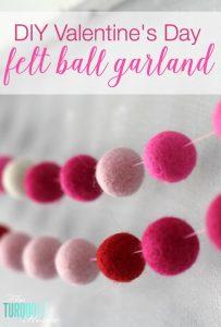 How to Make a Felt Garland + Valentine's Day Chalkboard