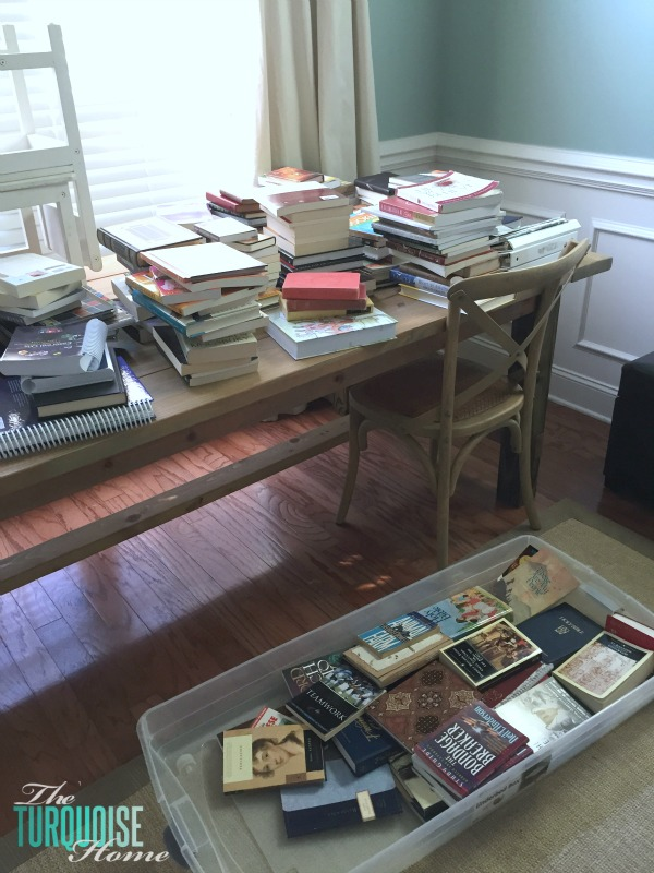 Sorting Books via the KonMari Method | TheTurquoiseHome.com