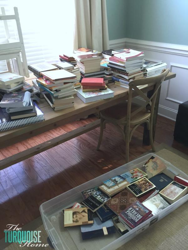 Sorting Books via the KonMari Method | TheTurquoiseHome.com