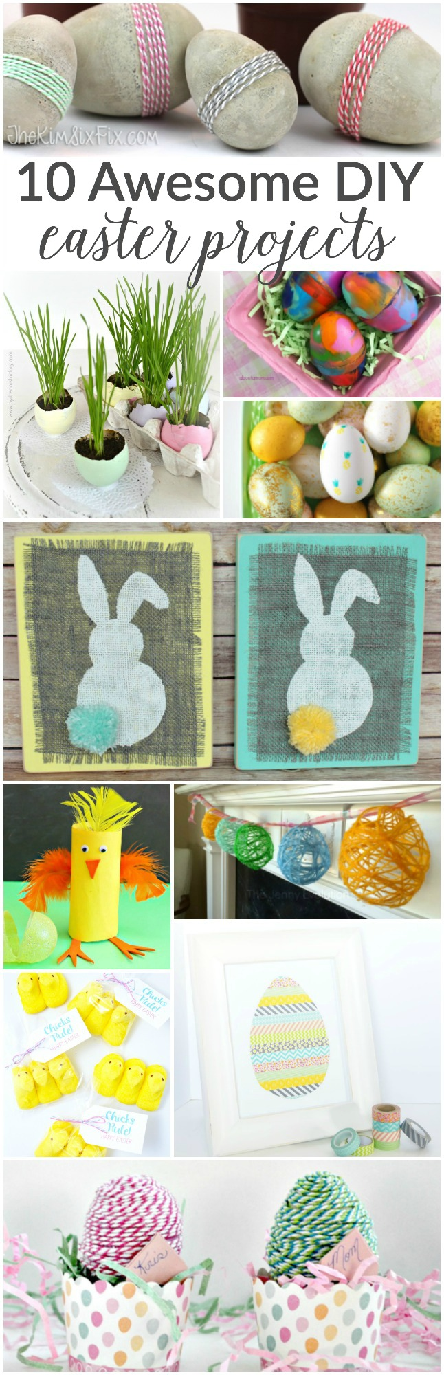10 Awesome Easter DIY Projects | Featured at Work it Wednesday