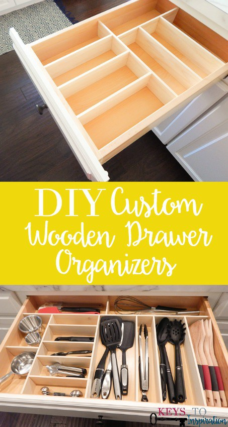 DIY Custom Wooden Drawer Organizers from Keys to Inspiration