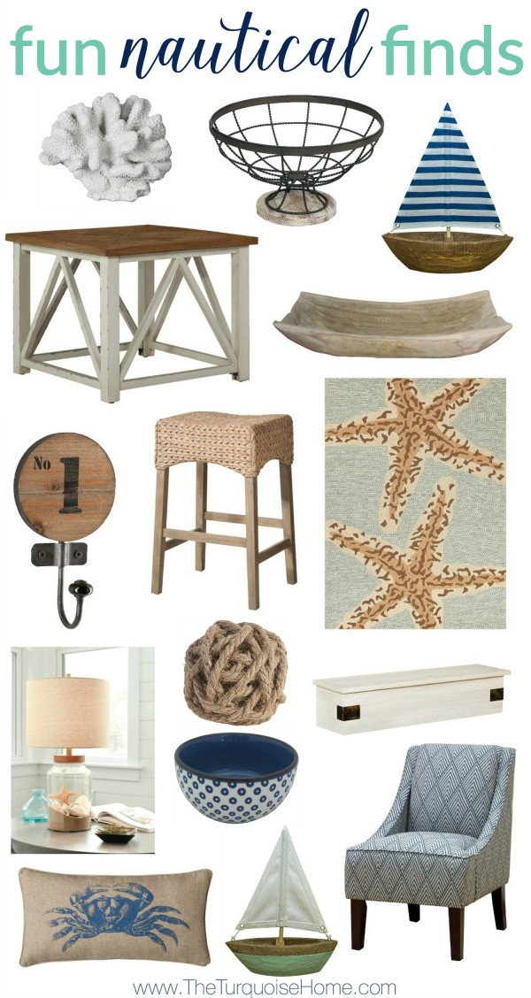 Summer brings some of the best home decor with it! Fun nautical finds at TheTurquoiseHome.com