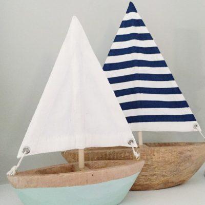 pretty blue sailboats