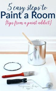 Painting a Room in 5 Easy Steps {tips from a paint addict}