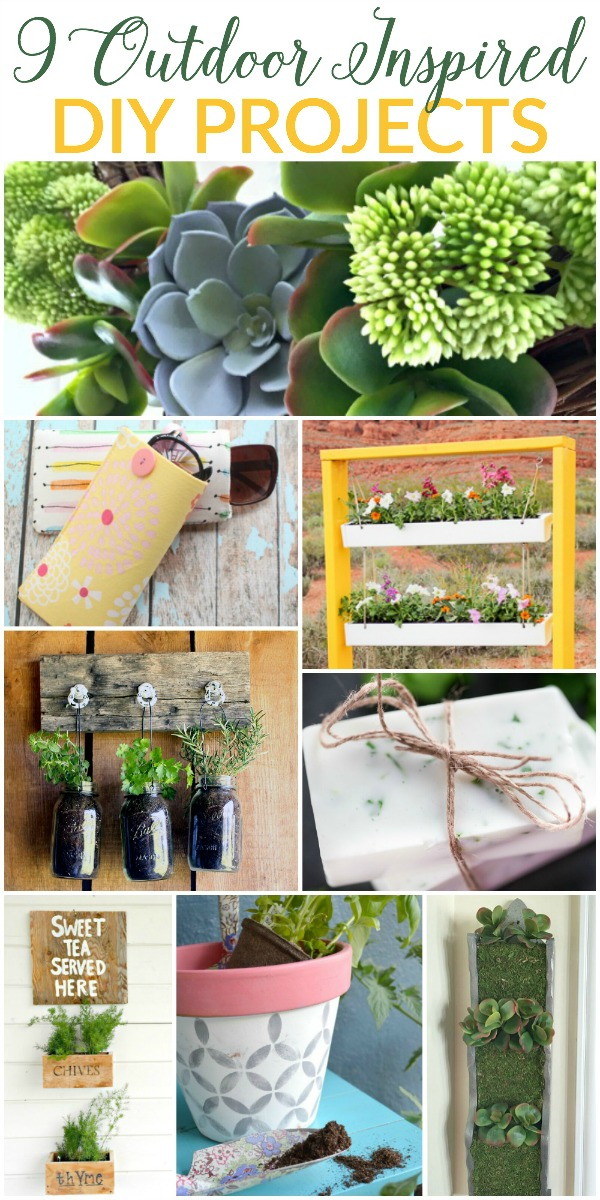 9 Outdoor Inspired DIY Projects | Featured at Work it Wednesday