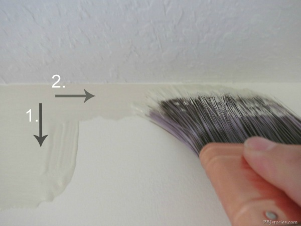Easy Steps for Painting a Room: Cutting in the Trim | TheTurquoiseHome.com
