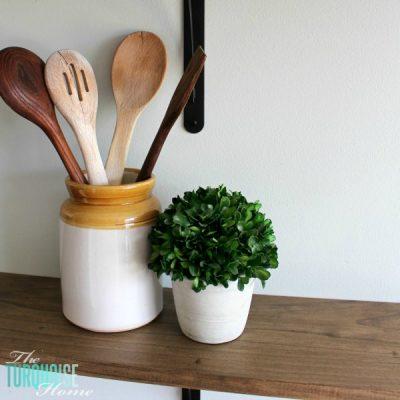 DIY Farmhouse Shelves for less than $40